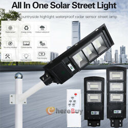 900000LM Commercial Solar Street Light PIR LED Outdoor IP67 Area Road Spotlight
