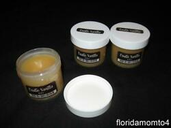 Rare Scentsy Lot of 3 EXOTIC VANILLA Large 2 oz Party Tester Wax Jars w Bonus $16.00