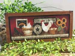 Farmhouse Kitchen Sign Rise And Shine Art Decor Country Rustic Wood Wall Hanging $13.45