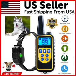 Dog Shock Training Collar Rechargeable Remote Control Waterproof IP67 875 Yards $25.79