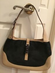 Gucci Hobo Jackie o Leather Pony Hair Shoulder Bag With Damage $269.00