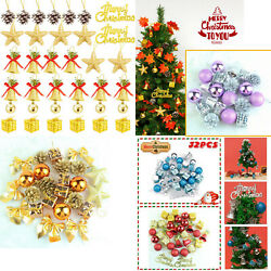 Christmas Tree Glitter Balls Baubles Xmas Hanging Ornament Home Decor 32 PCS