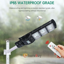 900000LM 90W Solar Street Light LED Outdoor IP67 PIR Sensor Area Road Spotlight