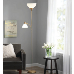 72 Inch Floor Lamp Reading Light Metal Uplight Stand Living Room Bedroom Gold $22.14