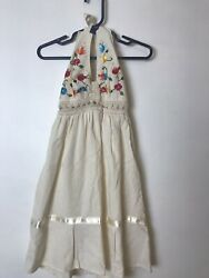 Hand made Mexican Embroidered Girls Dress see measurements d1 p $24.90