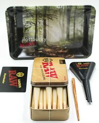 RAW MINI FOREST BUNDLE KIT ROLLING TRAY15 KING SIZE CONESLOADERStorage TIN $19.99