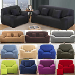 1 2 3 4 Seater Sofa Cover Stretch Recliner Covers Couch Elastic Slipcovers US $22.00