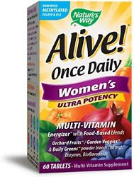 Nature's Way Alive Once Daily Women#x27;s Multi Vitamin 60 TABS 01 31 2022 $12.99