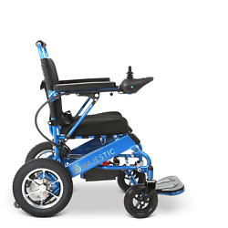 Blue Foldable Electric Remote Control Wheelchair Medical Mobility Power Chair $1799.00