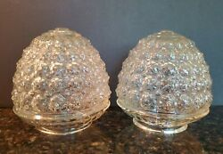 Vintage Clear Acorn Shaped Glass Replacement Globes 3.25quot; Fitter Set of 2 $33.99