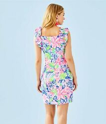 NWT Lilly Pulitzer Steffi Stretch Shift Dress Multi Havana Cocktail SIZE 2 $178 $69.95