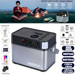 505Wh 500W Solar Generator Power Station Supply Energy Storage 4USB Quick Charge $269.09
