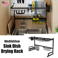 Stainless Steel Over Sink Dish Drying Rack Drainer Kitchen Cutlery Holder New $46.99