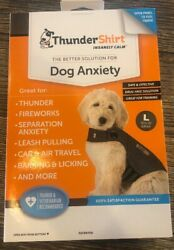 Thundershirt Dog LARGE 41 64 lbs Gray Solution Anxiety Thunder Fireworks Travel $24.77