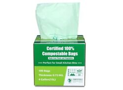 Primode 100% Compostable Bags 4 Gallon 15L Food Scraps Yard Waste Bags $45.00