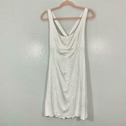 Vintage 90's White Floral Cut Out Summer Midi Dress Women's Size Small $26.60