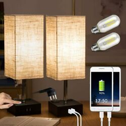 Touch Bedside Lamps Built in Dual USB Charging Ports Set of 2 $83.96