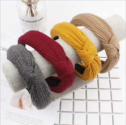 Women#x27;s Girl Hairband Twisted Knot Headband Headwrap Hair Band Hoop Accessories $3.99