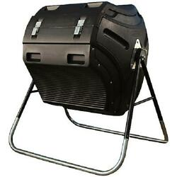 Black 80 Gal Compost Tumbler Double Wall Panels W Extra Large Removable Lid $180.99