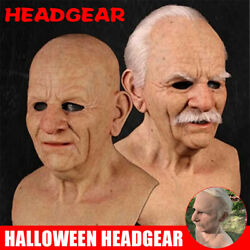 Latex Old Man Mask Male Disguise Realistic Masks Cosplay Costume Halloween Party $22.31