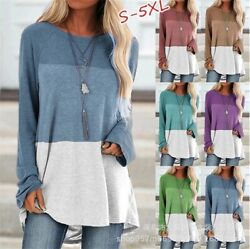 Womens Long Sleeve Shirt Tops Tunic Casual Plus Size Pullover Blouse Sweatshirt $15.78
