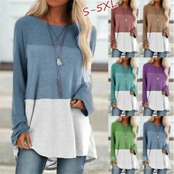 Womens Long Sleeve Shirt Tops Tunic Casual Plus Size Pullover Blouse Sweatshirt $14.99
