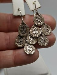Anna Beck Dotted Chandelier Earrings Sterling Silver .925 $150.80