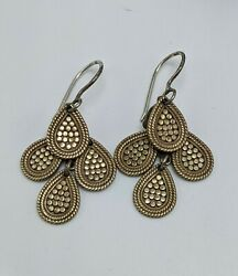 Anna Beck Gold Dotted Chandelier Earrings Sterling Silver .925 $150.80