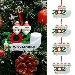 2020 Xmas Snow Family Santa Christmas Hanging Family Ornament Party Personalized