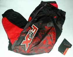 Men#x27;s 180 FOX MOTOCROSS RACING Pants Dirt Bike Off Road Red Black Sz. 30 EUC $71.99