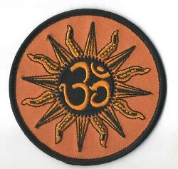 Ohm Sun Orange Iron On Sew On Embroidered Patch 3 1 2 quot;x 3 1 2quot; $5.79