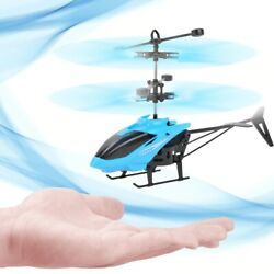 Mini Helicopter RC Infrared Induction Remote Control RC Toys 2CH Gyro RC Drone $8.96