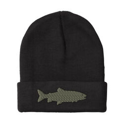 Beanies for Men Lake Trout Embroidery Funny Winter Hats Women Acrylic Skull Cap $16.99