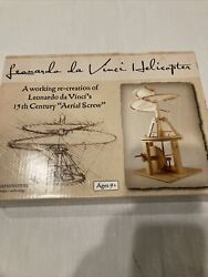 Leonardo Da Vinci Helicopter A Working Recreation Aerial Screw Ages 9t $13.00