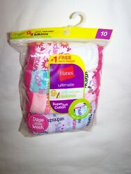 One Package of 9 Count Bikinis for Girl; Hanes Days of the Week; Size 10 $12.45