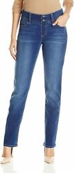 Riders by Lee Indigo Women#x27;s Pull On Waist Smoother Straight Leg Jean $35.65