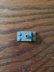 Lego 1 Dark Bluish Gray 2x4 Brick Plate With 1 Pin Helicopter Mount $0.99