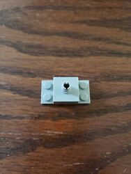 Lego 1 Old Light Gray 2x4 Brick Plate With 1 Pin Helicopter Mount $1.39
