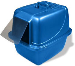 Blue Covered Cat Litter Box Extra Giant Storage Pet Care Clean Portable Home $29.87