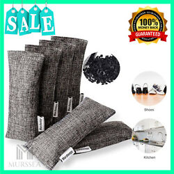 Air Purifying Bag Nature Fresh Style Charcoal Bamboo Purifier Mold Odor 6 Pack $13.99