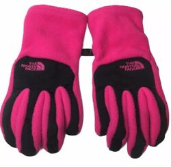 The North Face UR Powered Gloves Pink Black Women's Size Medium $14.95