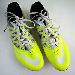 Nike Zoom Rival S Volt Track Shoes Men#x27;s Size 11 Racing Running Yellow Spikes $27.88