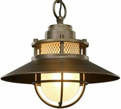 Porch Light Fixture Outdoor Ceiling Pendant Globe Hanging Chain Industrial Lamp
