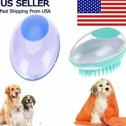 Pet Bath Brush Comb Pet Cats Shower Hair Grooming Comb SPA Massage Brush Dogs $11.49