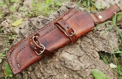Custom Hand Made Pure Leather Sheath Holster For Fixed Blade Knife Or Tool S20 $9.99