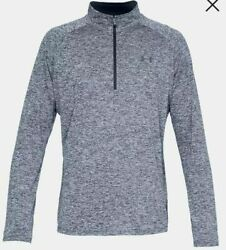 UNDER ARMOUR MEN#x27;S TECH 2.0 1 2 ZIP LONG SLEEVE SHIRT ASST SIZES 1328495 408 $24.99