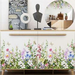 Wall Sticker DIY Living Room Tropical Leaves Plant Flower Butterfly Home Decal $6.91