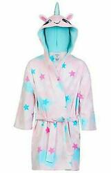 St. Eve Girls Beach Cover Up 100% Cotton Hooded Unicorn X Small 3 4 $19.99