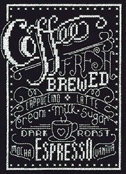 Counted Cross Stitch Mini Kit Janlynn Coffee Chalkboard #999 5059 $7.99