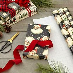 Black Christmas Wrapping Paper with Cut Lines on Reverse Christmas decorations $25.33
